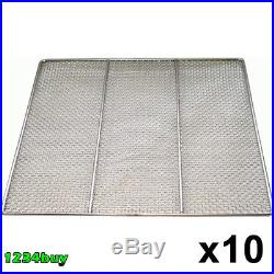 10 PC Stainless Steel Donuts Frying Screens 23x23, 24 Gauge DN-FS23 (16 Mesh)