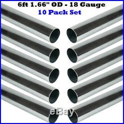 10 Pack 6ft 1.66 OD 18 Gauge Galvanized Steel Antenna Mast Pipe Pole Dish