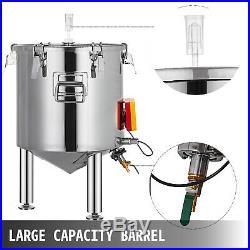 13.2 Gal Brew Bucket Fermenter Conical Ferment Tanks Ferment Pot LCD Temp Gauge