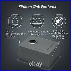 13X15 inch Undermount Bar Prep Kitchen Sink Single Bowl 18 Gauge Stainless Steel