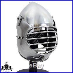 14 Gauge Collectibles Armour Helmet Dog-Face Bascinet SCA Helmet Reenactment