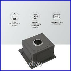 15x15 Inch Drop-in Kitchen Sink Top Mount 18 Gauge Stainless Steel Single Bowl