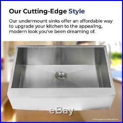 16 Gauge Apron Front Farmhouse Stainless Steel Kitchen Sink Undermount 30 inch