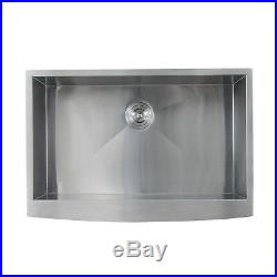 16 Gauge Apron Front Farmhouse Stainless Steel Kitchen Sink Undermount 33 inch