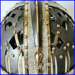 16 Gauge Brass & Steel Medieval Valsgrade Helmet Vendel Helmet