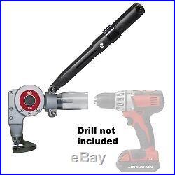 16 Gauge Metal Cutting TurboShear Drill Attachment MALTSA1 Brand New