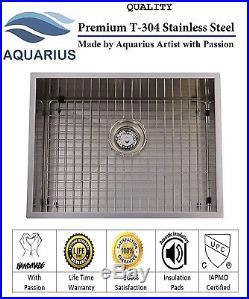 16 Gauge Stainless Steel Undermount Kitchen Sink Grid Strainer Package 23 inch