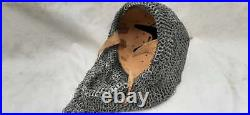 16 Gauge Steel Medieval Knight Mask Ottoman Empire Helmet With Chain mail
