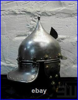 16 Gauge Steel Medieval Knight Ottoman Islamic Helmet Historical Warrior Helmets