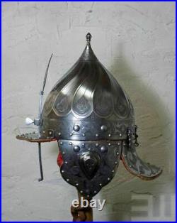 16 Gauge Steel Medieval Ottoman Helmet Islamic Knight Historical Helmet