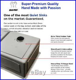 16 Gauge Undermount Stainless Steel Kitchen Sink Faucet Grids Strainer 31 inch