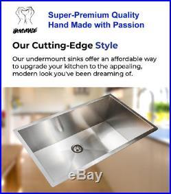 16 Gauge Undermount Stainless Steel Kitchen Sink Grid Strainer Package 31 inch