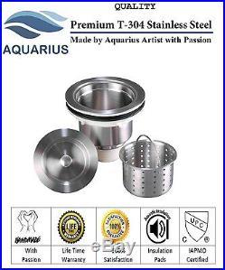 16 Gauge Undermount Stainless Steel Kitchen Sink Grid Strainer Package 32 inch