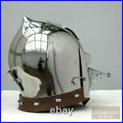 16gauge Hardened Tempered Steel Medieval BASINET Helmet With Veil