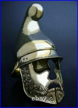 18 Gauge Brass Medieval Reenactment Gladiator Helmet W Handmade Beard