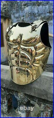 18 Gauge Brass Medieval Roman Greek Muscle Armor Cuirass Breastplate