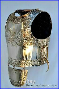 18 Gauge Brass Medieval Roman Marmesse cuirass Reenactment Costume