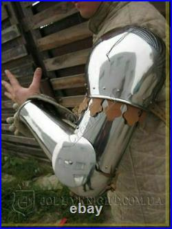 18 Gauge Medieval Knight Steel Full Arm Gothic Armor Shoulder Replica Gift
