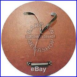 18 Gauge Steel 24 Diameter Functional Viking Solid Wooden Circular Shield SCA