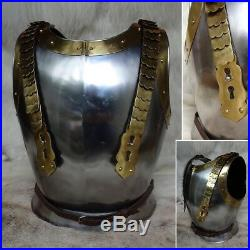 18 Gauge Steel & Brass Napoleonic Cuirass Perfect for Re-enactment Stage & LARP
