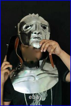 18 Gauge Steel Medieval Armor Knight Helmet Face Mask and Gorget