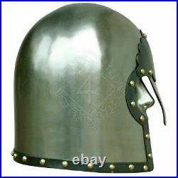 18 Gauge Steel Medieval Knight Lobster Tail Pot Helmet, Germany 2nd half 16th ce