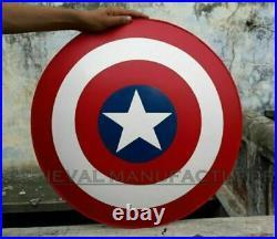 18 Inch Captain America Shield Endgame Avengers Metal Iran Steel 18 Gage