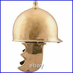 18 gauge Brass Medieval Republican Montefortino Roman Type helmet