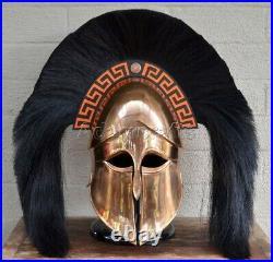 18 gauge Steel Copper Coated Medieval Greek Corinthian Helmet Spartan Helmet TG