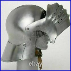 18 gauge Steel Medieval Knight Sallet Helmet last form Halloween Costume Gift