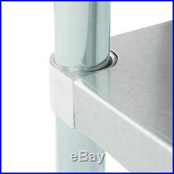 18 x 60 Stainless Steel Work Prep Shelf Table Commercial Restaurant 18 Gauge