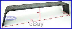 (2)- Steel 14 Gauge Diamond Tread Plate Tandem Axle Trailer Fenders 10x72x13