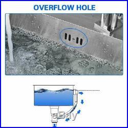 20 Kitchen Utility Sink Heavy Gauge Stainless Steel Single Bowl Undermount NEW