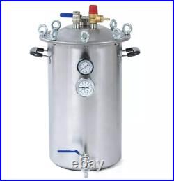 21 Quart Large Pressure Canner Cooker With Pressure Gauge Stainless Steel
