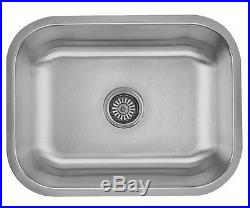 23 x 18 x 9 Stainless Steel Undermount Rectangle Bowl Kitchen Sink 16 Gauge