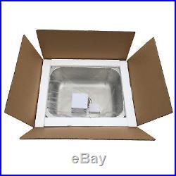 23x18'' Stainless Steel Kitchen Undermount Sink 16 Gauge Single Bowl 9'' Deep