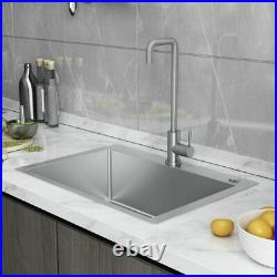 24x18 Kitchen Sink 16 Gauge Single Bowl, Drop In, Stainless Steel, Include Faucet