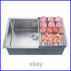 28x18x9 Deep Stainless Steel 18 Gauge Undermount Kitchen Sink Single Bowl