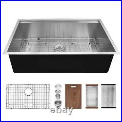 30'' 18 Gauge 304 Kitchen Sink Single Bowl Stainless Steel Farmhouse with Strainer
