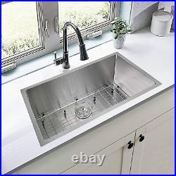 30 Inch Undermount Workstation Kitchen Sink 16 Gauge Single Bowl Stainless Steel