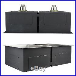 30x18x9 Double Bowl Undermount 304 Stainless Steel Kitchen Sink 18 Gauge New