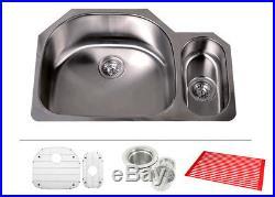 32 16 Gauge Double Bowl 80/20 Undermount Stainless Steel Kitchen Sink