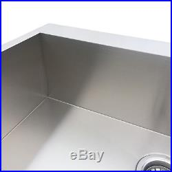 32'' 16-Gauge Stainless Steel Single Bowl Kitchen Sink Top Mount Drop in