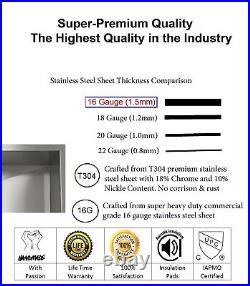32 inch 16 Gauge Stainless Steel Undermount Kitchen Sink Grid Strainer Package