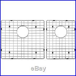 32 x 18 x 9 18 Gauge Stainless Steel Undermount Dual Kitchen Sink Drain Set