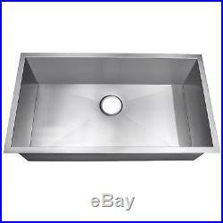 32 x 18 x 9 Single Basin 18 Gauge Stainless Steel Undermount Kitchen Sink