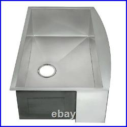 33 x 22 x 9 Apron Under Mount Single Basin Stainless Steel Kitchen Sink