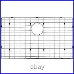 33 x 22 x 9 Stainless Steel Apron Farmhouse Handmade Sink Dish Grid Drain