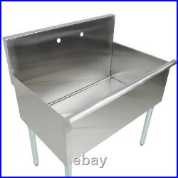 36 Commercial Kitchen Utility Sink Stainless Steel 36 X 24 X 14 Bowl 16Gauge