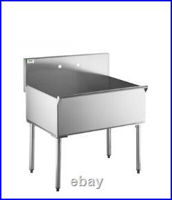 36 Commercial Utility Sink Stainless Steel 36 X 24 X 14 Bowl 16 Gauge NEW